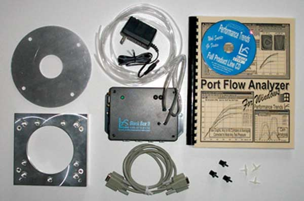 Fig. 3.18. The components of the Performance Trends EZ Flow kit. This leaves only items such as the PVC piping to be sourced to complete the parts list required for a finished bench.