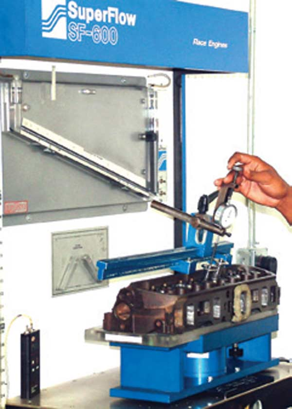 Fig. 2.5. The current standard for the industry is this Super Flow 600. This company makes a range of flow benches; the smallest and least expensive one is the Super Flow 110.