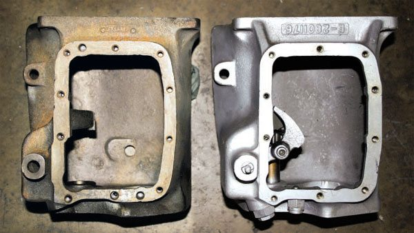 These are original cases. Notice that the factory alloy case was beefed up to handle the remaining weight of the unit.