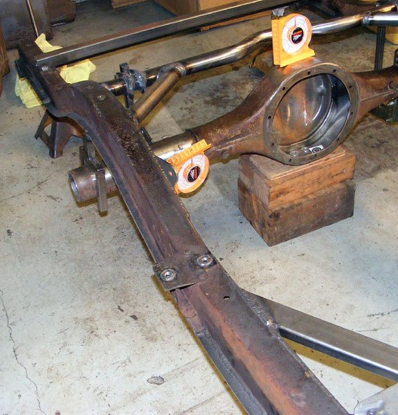 The chassis is the foundation of an automobile, and it pays to make it straight, true, and as strong as possible. You can reinforce an old frame easily, and keep it straight and level while you work.