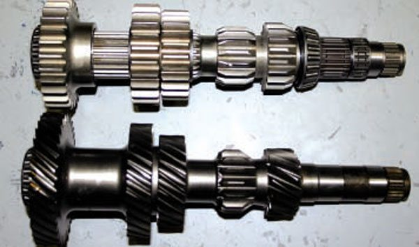 The stock T5 countergear (left) and the Enduro countergear (right).