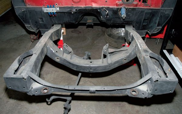 The original frame on this 1966 Plymouth Fury is pretty beat up, so we'll replace it with something customizable.