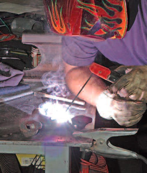 You can use your TIG welder as a stick welder, which is nice because you then have your choice of AC or DC operation and you can choose the polarity of your weld according to the materials you're using.