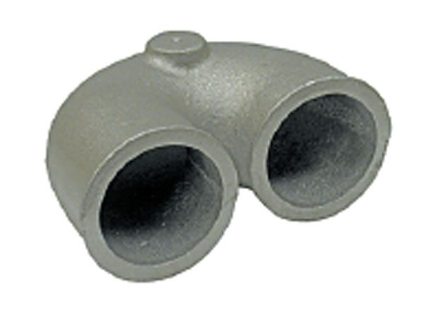 These short-radius pieces could save a lot of tubing headaches. Shown are a 2.25-inch OD U-bend and a 3-inch OD 90-degree short radius elbow, both from Turbonetics. (Courtesy Turbonetics)