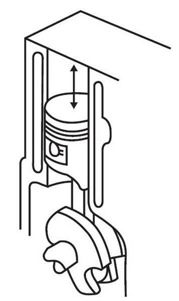 When the spark plug ignites the fuel/air mixture in the combustion chamber there is an equal force on the piston to go down as well as an equal amount of force trying to lift the engine block. But it can't because it is bolted into the car.