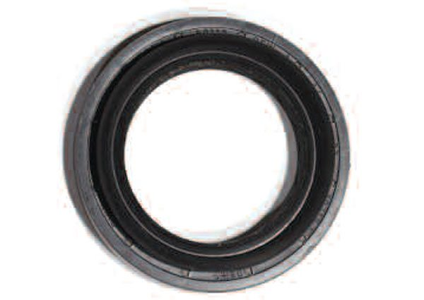 Radial lip-style seals are very common throughout the entire drivetrain to seal rotating shafts. This type of seal is used at the axle wheel ends and pinion shaft.