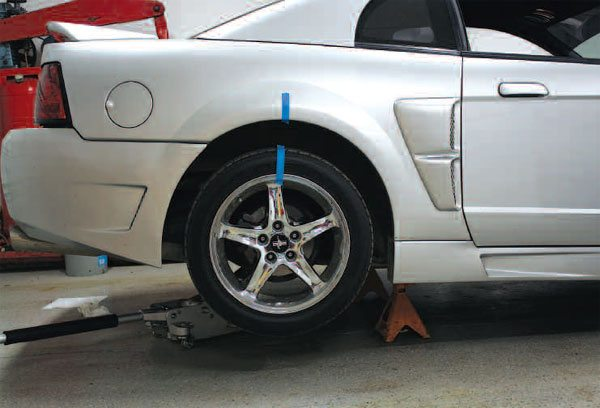 It is important to make certain that you have adequate clearance around the vehicle when you begin to disassemble rear axles. I like to place the car in the middle of the garage for maximum work space on both sides.