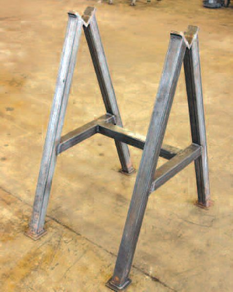 If you do enough axle work, a fabricated axle stand that supports the axle by the tubes is very helpful. This basic stand raises the axle far enough off the floor, so you don't have bend over the housing to work on it. You may also want to add casters with locks, so you can easily roll the axle around the shop.