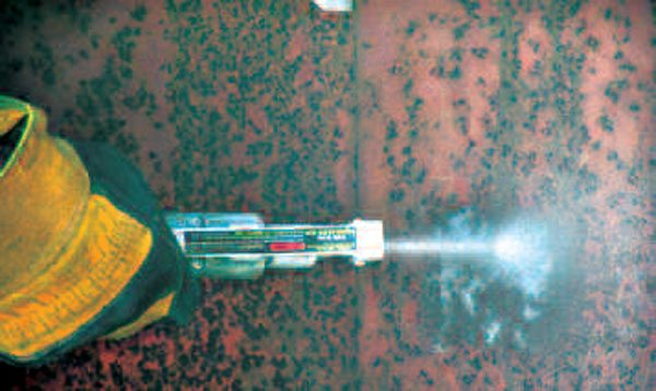 With considerable patience, abrasive blasting works well to clean sheet metal thoroughly. You have to be careful to work slowly, or you will warp the metal. Media-rich
