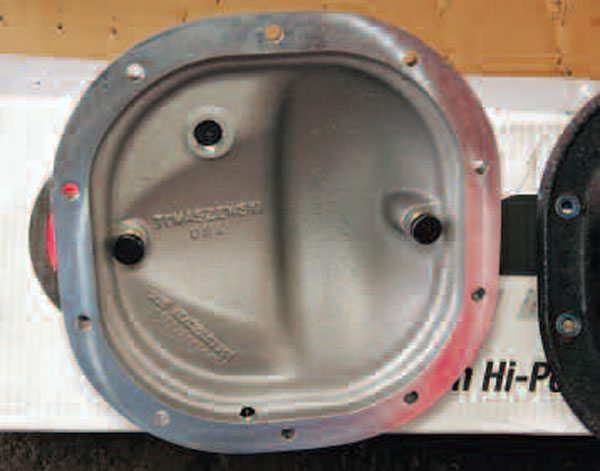 On the inside of the structural cover you again can see the bearing preload pads that are adjusted after the cover is installed. These structural covers are a great upgrade to the axle. (Randall Shafer)