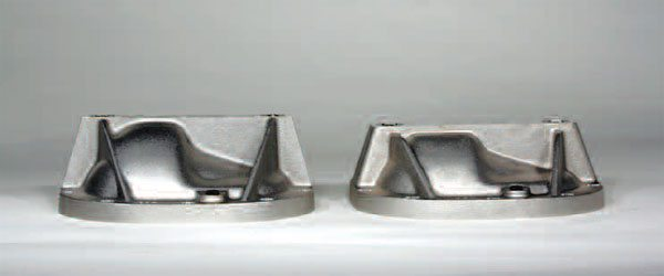 Make certain that you have the correct cover for your application. Here, you can see the depth difference of two covers for the same axle. One vehicle application has a panhard bar for the suspension while the other does not. The panhard bar application requires a shorter cover.