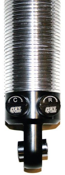 The QA1 double adjustable  shock has separate knobs to adjust compression and extension separately.