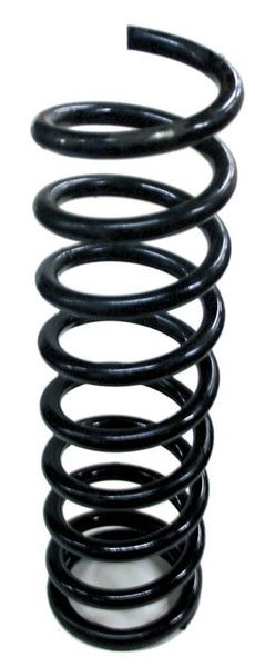 This ultra-tall front coil spring has been cut (shortened) by one full coil to adjust the vehicle's ride height. Get-ting the proper level stance is important to both weight transfer and aerodynamics.