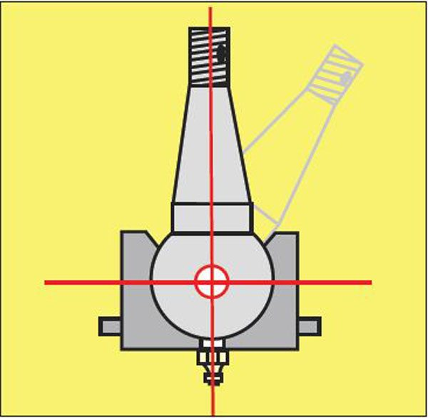 Inside every ball joint is a pivot ball. The ball-joint's pivot or pickup point is at the center of that pivot ball.