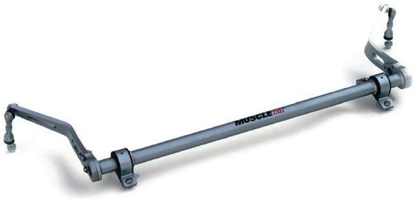 An interesting twist on front sway bars, the RideTech MuscleBar is similar to a splined end bar. It features Posi-Link end links and a massive tubular torsion bar.(Photo Courtesy RideTech)
