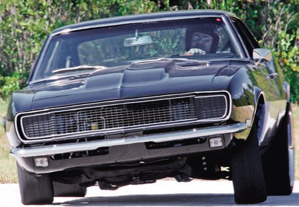 This Camaro, owned by Dan Babb, is pretty typical of a traditional muscle/pony car. Armed with 427 inches of big-block power, it has virtually stock suspension with slapper bars in the rear. It features massive body roll even at modest autocross speeds. Training wheels on the door handles might not be a bad idea! (Photo Courtesy Dan Babb)