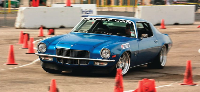 Detroit Speed has a good selection of parts for second-gen GM F-bodies, including tubular A-arms, Quadralink rear suspension, and mini tubs. This DSE test car has had some outstanding autocross performances. (Photo Courtesy Detroit Speed and Engineering)