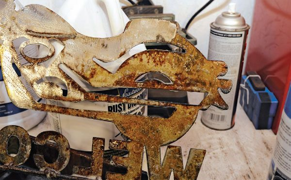 I soaked the pieces in Eastwood Rust Remover and that took care of almost all the oxidization. Some quick work with the wire wheel completed the cleanup.