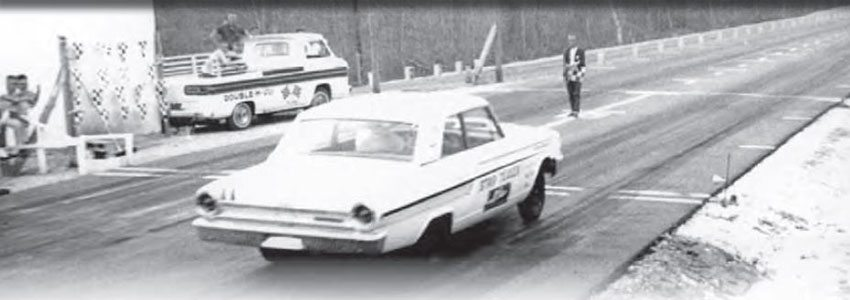 Although it was a long drive with the mountainous terrain and poor roads, Blue Ridge, Georgia, had a great drag strip just outside town. The Strip Teaser Thunderbolt is certainly the star of this photo, but check out that Corvair support truck! (Photo Courtesy Ronnie Evans)