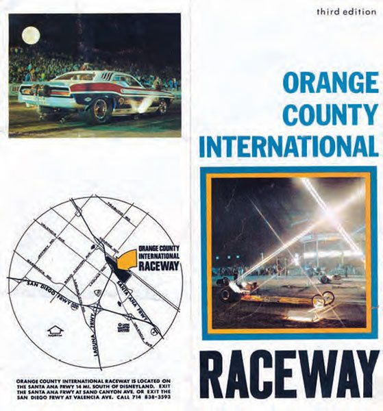 Orange County International Raceway (OCIR) was one of the sport's first mega-tracks, opening in 1967 with a total investment of nearly $750,000. With that kind of financial backing, the track was sure to be a spectacle in the drag racing world, and it certainly lived up to the hype. (Photo Courtesy Don Gillespie Collection)