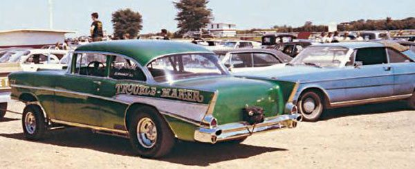 Gassers came in all shapes and sizes—that's what set them apart from the other classes in drag racing. This is a typical gasser from the 1960s—straight-axle front suspension and radiused rear-wheel arches being the notable traits. Racers were split into classes by the total weight of their cars and the cubic-inch displacement of their engines. (Photo Courtesy Brent Fregin)