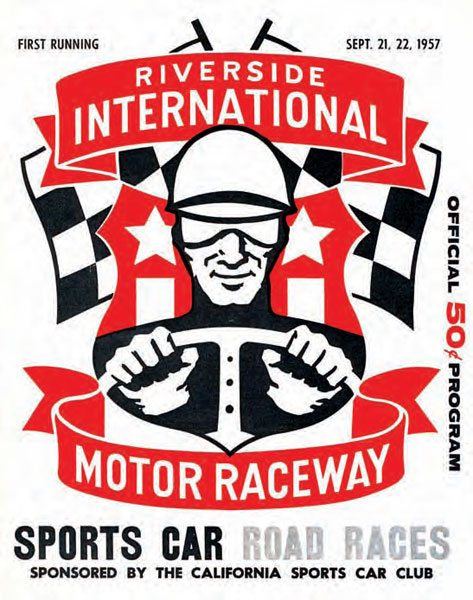When it officially opened in 1957, Riverside International Motor Raceway was primarily used for its road course. It held its first major event on September 21 and 22, 1957, a road race event sanctioned by the California Sports Car Club. Riverside later incorporated a drag strip and oval track into its layout. (Photo Courtesy Riverside International Automotive Museum and Petersen Automotive Museum)