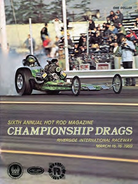 Marvin Schwartz hazes the tires in his immaculate AA/FD as he leaves the line at Riverside. The track went through a few different phases, but it was certainly the most popular in the mid to late 1960s. Western drag strips tended to draw a considerable number of dragsters, compared to other parts of the country. (Photo Courtesy Don Gillespie Collection)