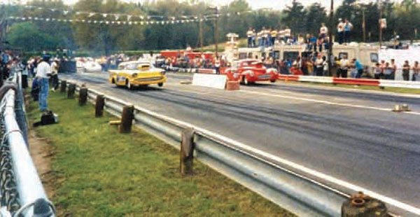 Although Shuffletown Dragway had a long career as Charlotte's premier drag strip, it exploded in popularity during the late 1980s and early 1990s. During this time, heads-up drag racing was very popular, and the evolving group of high-end doorslammers created a class that we now call Pro Modified. (Photo Courtesy Van Abernethy)