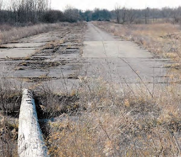 Current-day photos from U.S. 30 Drag Strip aren't nearly as exciting, as all of the buildings and track equipment are long gone. No more guardrails, no more light poles, and no more timing tower—all that's left is an expanse of pavement that saw more than twenty-five years of great racing action. (Photo Courtesy Mike Sopko)