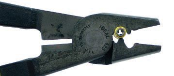 This is the right tool for a crimping job. Notice the seam is opposite the stake to prevent the stake from opening up the connector in the process of crimping, resulting in a questionable connection.