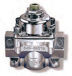 This is Holley's non-bypass regulator (PN 12-803). It is a real workhorse at an affordable price. If you want to build a better but still basic fuel system this is the unit to install