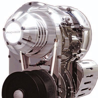 ProCharger recently introduced their e-1 programmable-ratio centrifugal supercharger, with internal transmission gearing ratios selectable via an on-board controller, allowing variable levels of boost to suit individual requirements. (Photo Courtesy ProCharger)