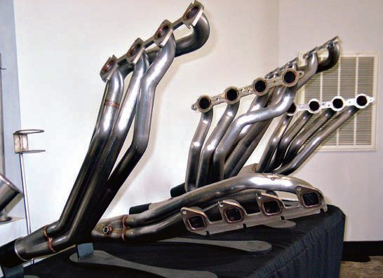Exhaust headers are available in an almost infinite array of tube diameters, lengths, and shapes to suit direct replacement in production vehicles and custom applications.