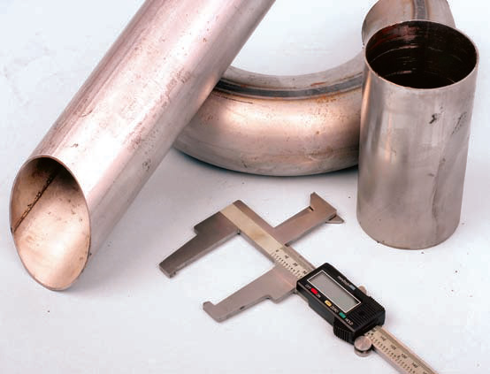 Measuring pipe diameter should be done with a caliper or micrometer, rather than eye-balling with a tape measure.