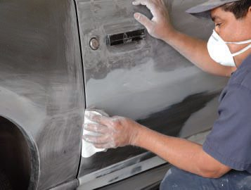 Unlike many such shops, this one did a significant amount of hand sanding, especially in critical areas such as around handles, locks, and door/hood/trunk edges.