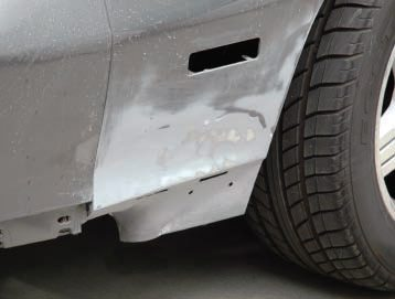 Steve did any bodywork that needed metal straightening or plastic body filler, since he trusted his own work and it would be a considerable extra expense at the paint shop.