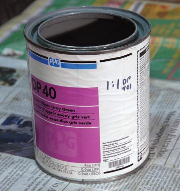 """Not too long ago automotive paint cans had mixing and spraying directions printed on the label—even easily read diagrams. Not any more. Now you have to get a """"tech sheet"""" to go with the specific paint, and they are hard to store, easy to lose, and even harder to decipher. It's much easier to write mixing proportions right on the can, with a marker, when you get it."""