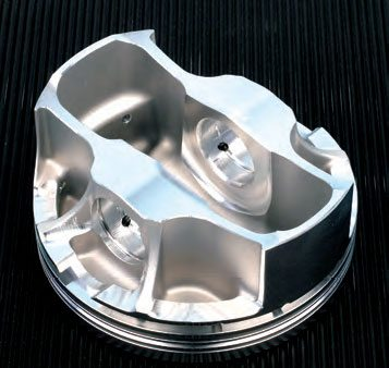 Moly anti-friction skirt coating has become commonplace for many street and race pistons. (Photo Courtesy Diamond Racing Products)