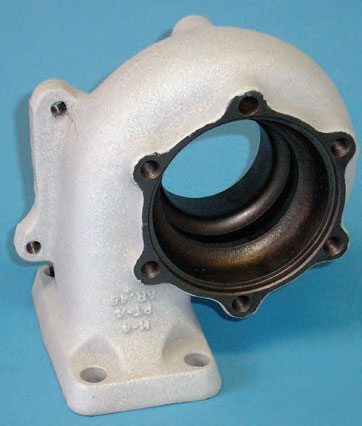 Ceramic thermal barrier coating is ideal for turbocharger housings. This increases efficiency and helps to reduce underhood temperatures. (Photo Courtesy Swain Tech Coatings)