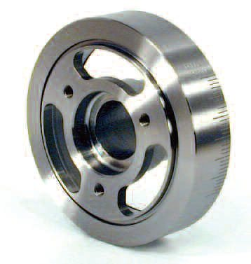If the crank is to have any chance at long-term survival, a damper that functions in the RPM band used is vital. The BHJ unit seen here is very popular with top professional teams.