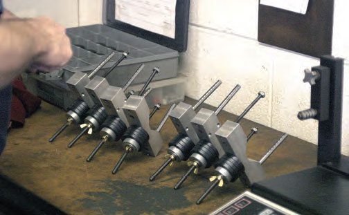 Once the bobweight card has been completed, the individual bobweights are assembled.