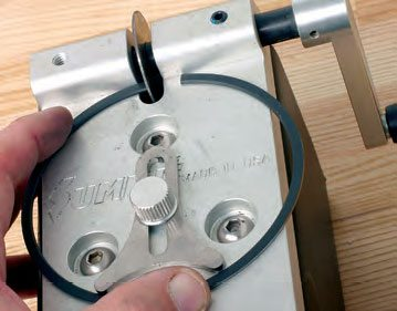 If the ring gaps are too tight, they may be file-fit by hand or by using a ring filer. Don't remove too much material. File with a few strokes, clean the ring, recheck gap in the bore, and continue the process in small increments until you achieve the desired gap. Remember to check gap (and correct where needed) at each cylinder, and keep each ring dedicated to the cylinder in which it was checked and fitted. Small variances in cylinder bores may exist, so for tailor-fit ring gaps dedicate each ring to one cylinder. For example: fit the top ring for number-1 cylinder, then for number-2, and the remaining cylinders. Next, fit the second ring for number-1 cylinder, then number-2, etc. Keep the rings organized per cylinder location.