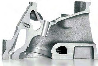 With shallower valve roll angle, the cylinder head can have intake port runners with increased cross section. This is a 6.2- liter LS3 head with 15-degree valve angle. (Photo Courtesy General Motors)
