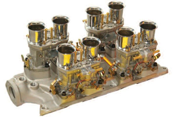 Unlike a Holley carb, a set of Webers on an IR manifold needs no power valve for WOT fuel enrichment. At WOT, the increased amplitude of the induction pulses causes the mixture to become enriched over that seen at part throttle.