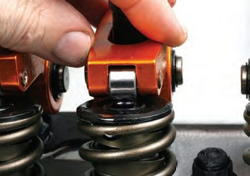 During test fitting, verify that the rocker tip is centered to the valvestem tip. If you're using pushrod guideplates, the guideplates may require adjustment for positioning.