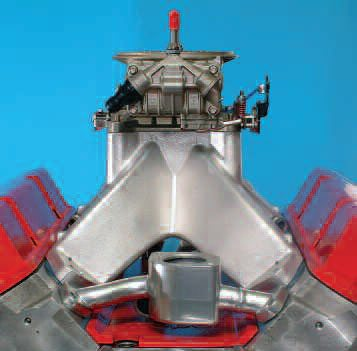 If hood clearance is not an issue, the runners can take a very direct approach to the cylinder ports. This can produce a very efficient intake manifold that, as far as the cylinder head is concerned, appears to have near-zero flow restriction.