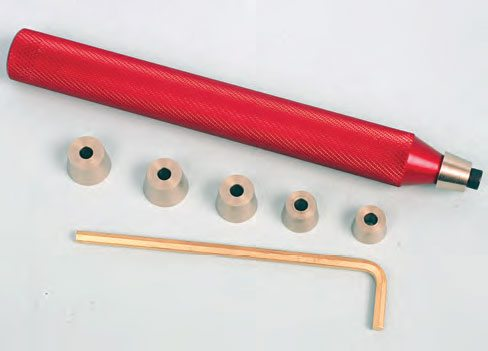 Since valve retainers and locks are available in 7-, 8-, and 10-degree mating angles, it's easy to make a mistake by mixing these up if you're dealing with various angle designs. This tool from PAC Racing has an assortment of cone adapters to easily allow you to identify the lock and retainer angles. (Photo Courtesy PAC Racing Springs)