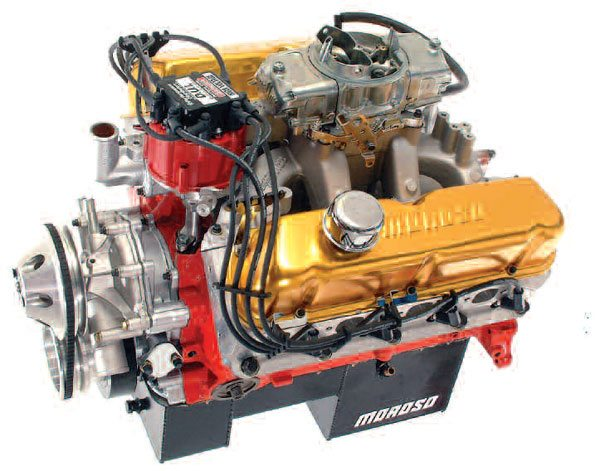 I stretched this Ford Windsor engine from its original 351 to 425 ci by means of a 0.6-inch stroke increase and a 0.060-inch overbore. To make the most of this capacity increase, it was necessary to change valve events and lift to more appropriate values.