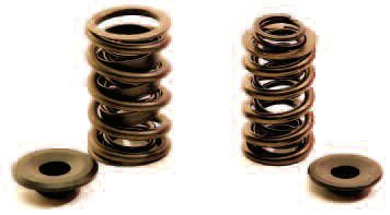 These two springs exert virtually the same seat and nose poundage, but the one on the right from PAC is made of a superior material and weighs only 65 percent of the one on the left. This increased the RPM to valvetrain crash from 6,100 to 7,150 rpm.