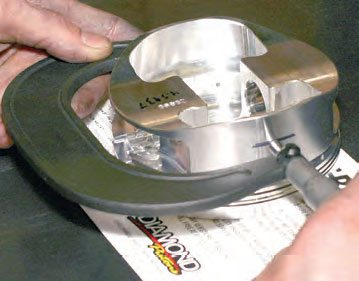 Piston diameter is always measured at the widest area of the skirts. The piston manufacturer specifies the exact location for measuring (for instance, .500 inch from the bottom of the skirt).